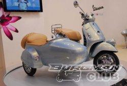 EICMA 2008: Vespa GTV Sidecar - максискутер с коляской