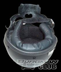 Черный байкерский шлем-череп