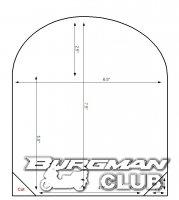 Один из вариантов установки брызговика на переднее крыло  на мотороллер   Burgman